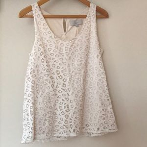 LOFT Lace Sleeveless Top